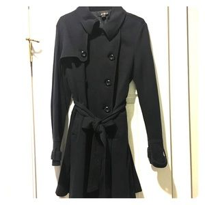 Double breasted Navy Coat from Forever 21